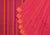 Sirigadi Checks Cotton and Handspun Handloom Saree - Red, Orange