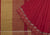 Temple Dobby Border Cotton Handloom Saree - Red