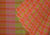Checks Multicolour Cotton Handloom Saree  - Pink, Green
