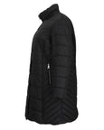 Fen-nelli Northside Jaquard Quilted Coat with Faux Fur