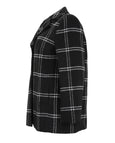 Samoon Plaid Notch Collar Coat