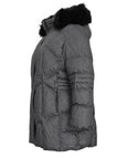 Fen-nelli Northside Cross Dye Diamond Quilted Coat With Faux Fur