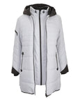 Fen-nelli Northside Melange Featherloft Contrast Trim Coat