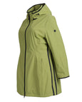 Junge Hooded Drawstring Waist Coat with Trim