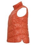 Samoon Zip Front Chevron Quilted Vest with Detachable Hood