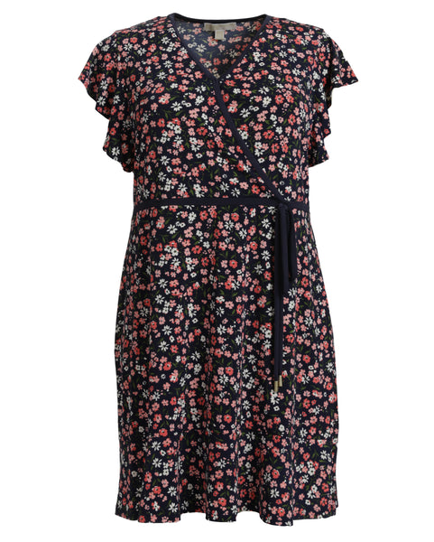 Michael Kors Garden Print Wrap Front Dress