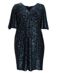 Adrianna Papell Sequined Midi Dress
