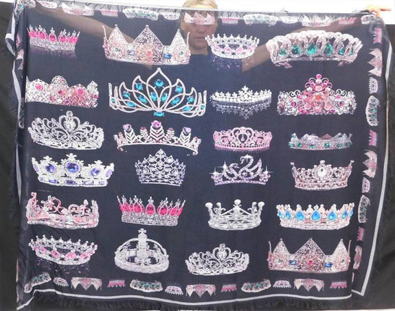 "Love's Pure Light Silk Scarf: ""Crowns. We Crown You With Many Crowns"""