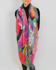 "Love's Pure Light Silk Scarf: ""Clothed in Rainbows of Living Colour - Toucans"""