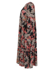 Luisa Viola Flowing Printed Moroccan Dress with Pockets
