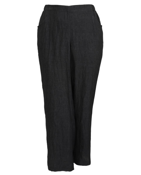 toni T by Toni Plus Linen Slim leg Pant with Elastic Waist