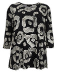 toni T by Toni Plus Jersey Print Seamed Tunic