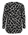 toni T by Toni Plus Giraffe Print Jersey Button Back Top