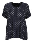 toni T by Toni Plus Dot Print Baby Doll Jersey Top