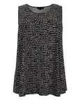 toni T by Toni Plus Line Dot Print Fit And Flare Tank