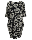 toni T by Toni Plus Jersey Print Dolman Sleeve Dress