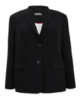 Samoon Two Button Triacetate Blazer in Black