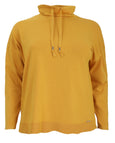 Samoon Drawstring Neck Long Sleeve Pullover