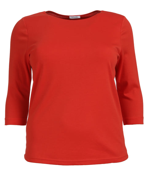 Efixelle Double Layer Front  3/4 Sleeve Cotton Tee
