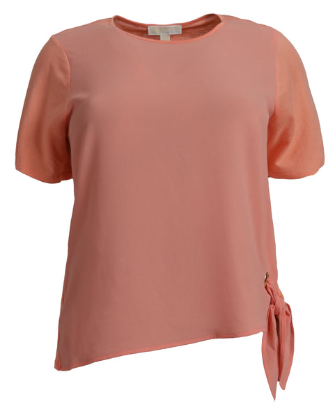 Michael Kors Side Tie Top in Coral