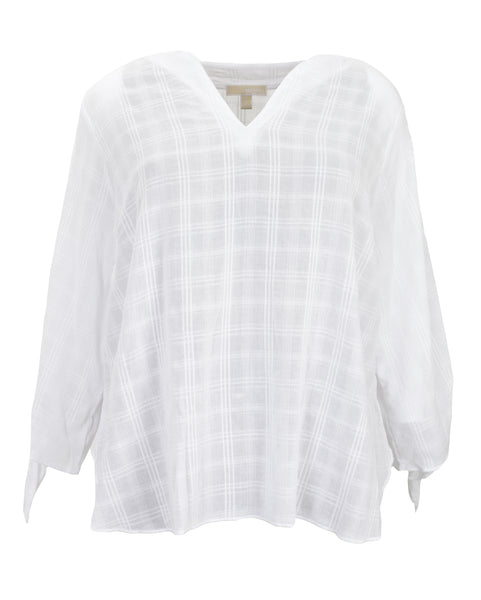 Michael Kors Cotton Gauze Tie Top