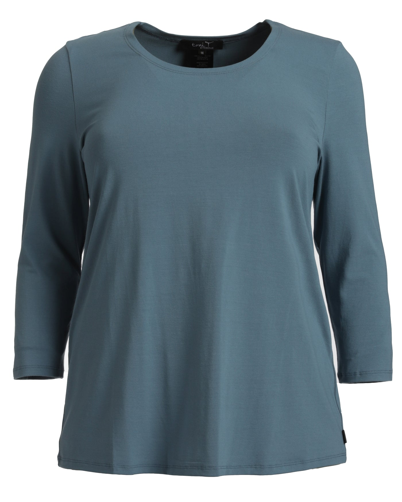 toni T 3/4 Sleeve Basic Viscose Tee