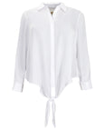 Michael Kors Button Down Tie Hem Top