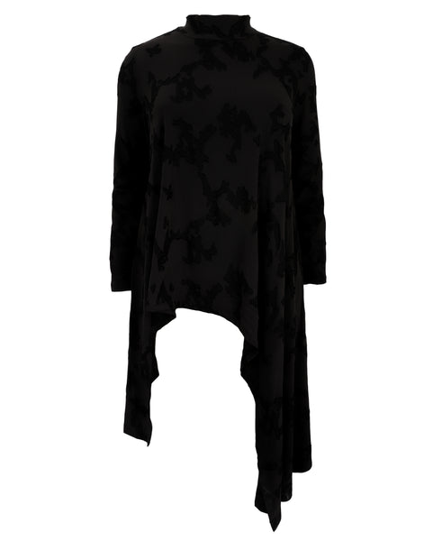 Alembika Black Asymmetrical Tunic