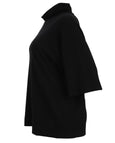 Bryn Walker Cozy Soft Bamboo Cowl Neck Black Keena Top