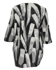 Bryn Walker Pennello Stretch Jacquard Abstract Print Bubble Tunic