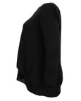 Samoon V-Neck Black Long Sleeve Layered Top