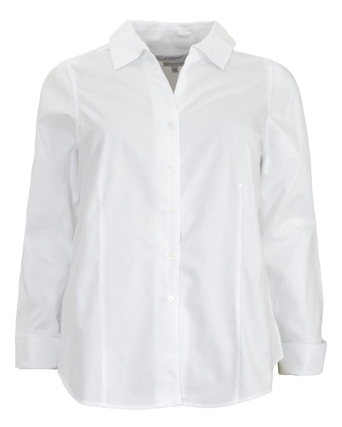 Foxcroft Long Sleeve Fitted Non-Iron Shirt