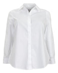 Foxcroft Long Sleeve Shaped Non-Iron Shirt in White