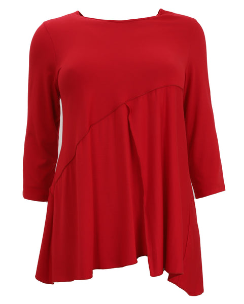 toni T by Toni Plus Modal Asymmetrical Seamed Top