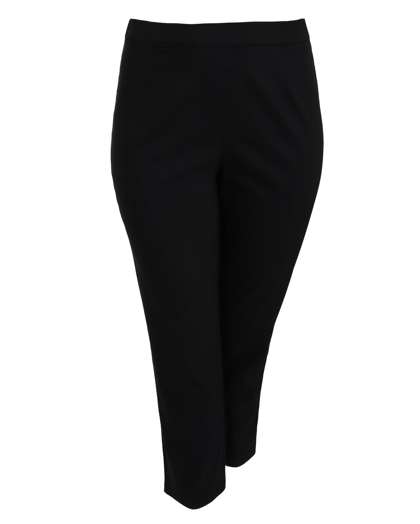 toni T by Toni Plus Stretch Poplin Slim Ankle Pant in Black
