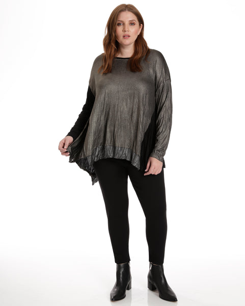 Alembika Crinkled Lamé Front Top