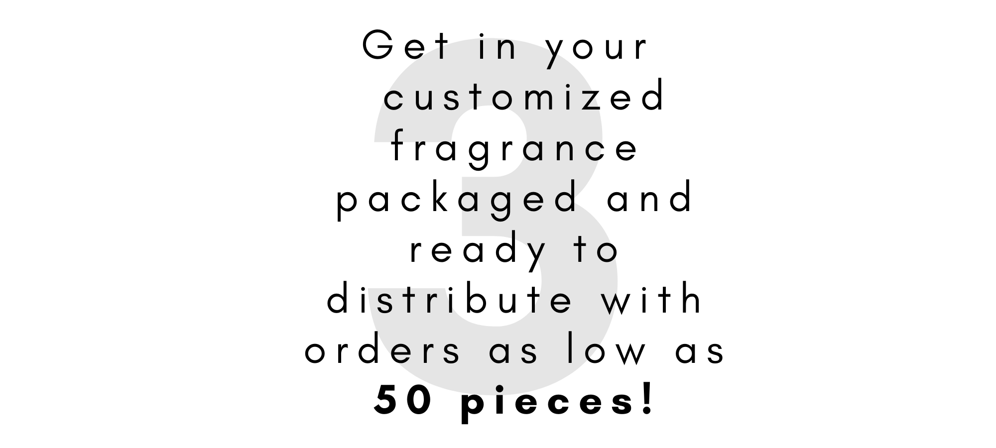 Receive your customized fragrance.