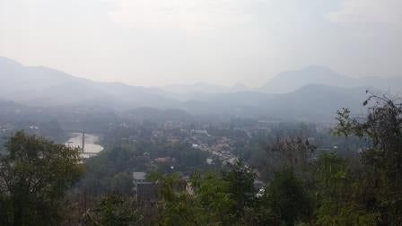 Aerial photo of Luang Prabang