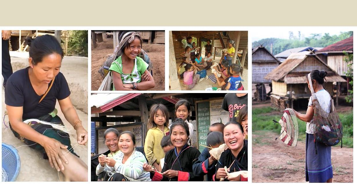 Khmu artisans in Laos who hand craft JungleVine® Fiber Products