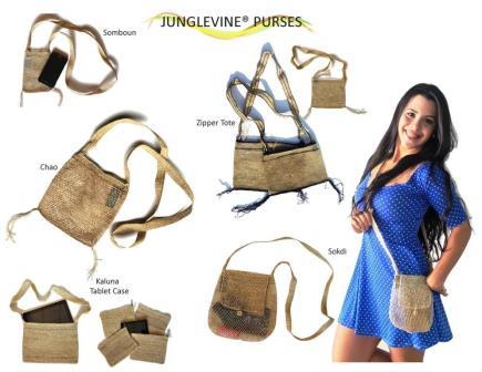 An assortment of JungleVine® Purses