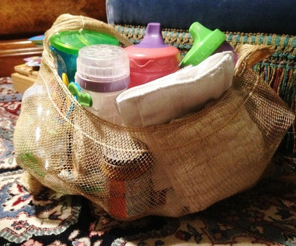 Pahk Eco-Friendly Vegan JungleVine Tote Bag, medium size, used as baby bag or diaper bag.