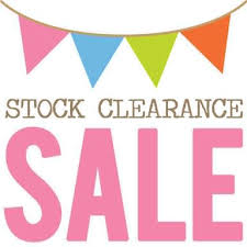 Stock Clearance Sale sign banner