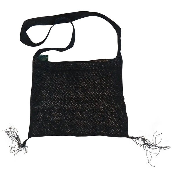 Hak JungleVine Tote Bag, dyed black, eco-friendly reusable beach bag