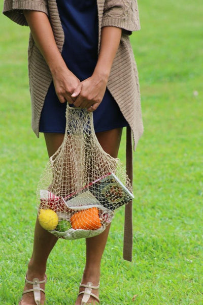 Lao Market Eco-Friendly Mesh Net Produce Bag, handmade of JungleVine Fiber