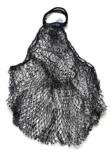Lao Market Eco-Friendly Mesh Net Bag, handmade using JungleVine Fiber, dark dye soa.