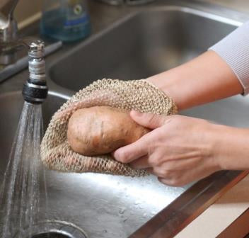 JungleVine® Vegetable Scrubber is perfect for root vegetables like potatoes and carrots
