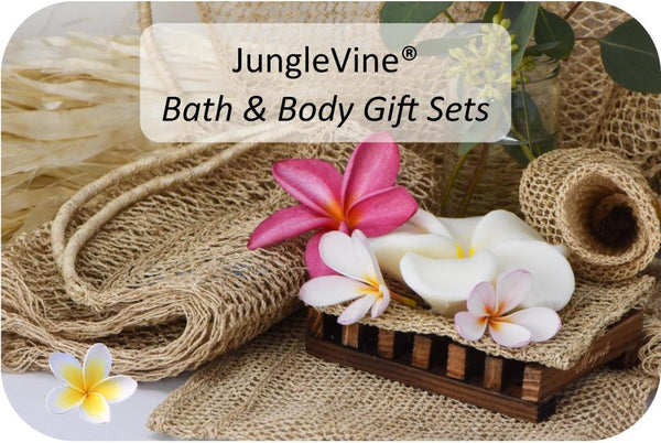 JungleVine® Bath & Body Gift Sets are the world's most eco-friendly exfoliation products