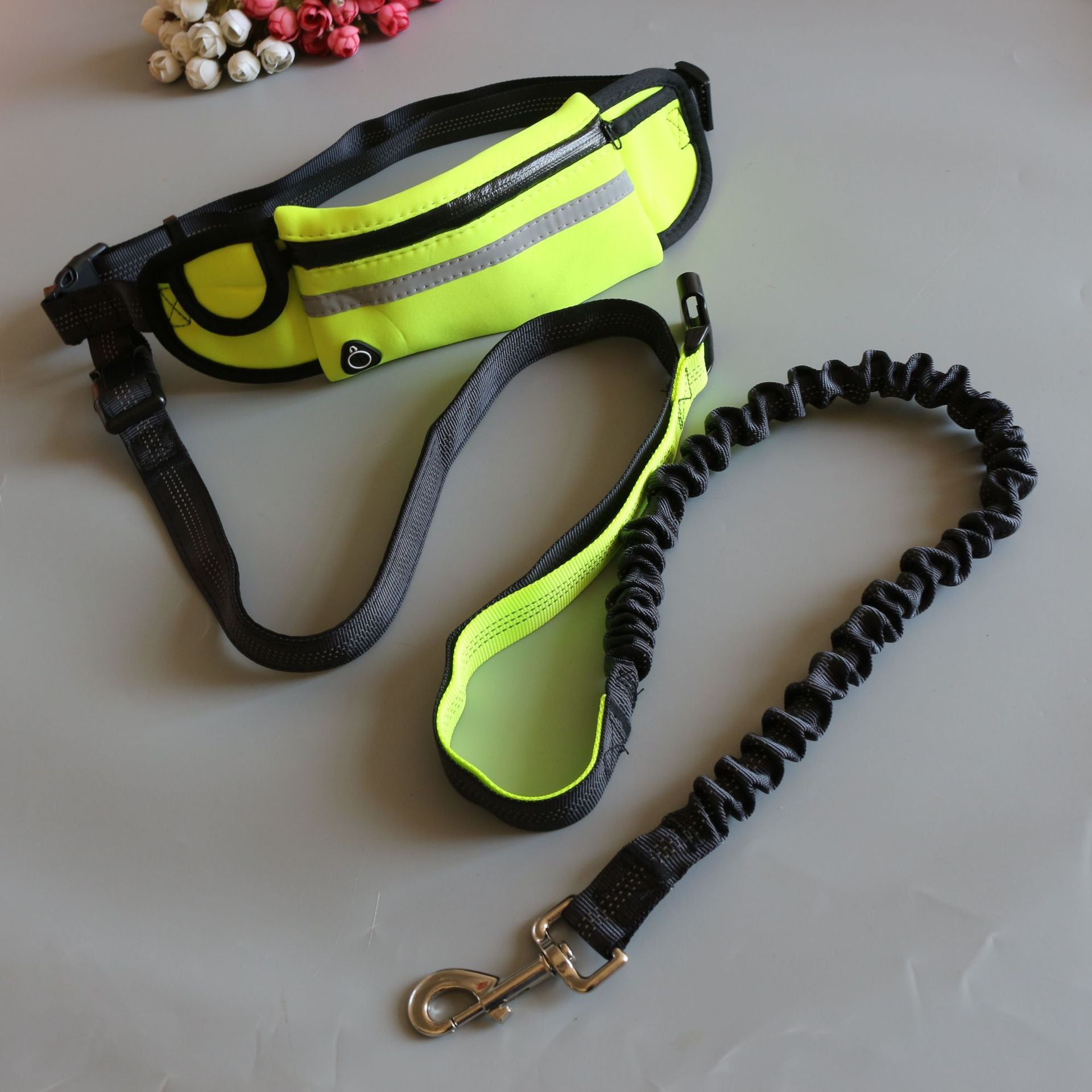 THE BARKING DOG Running Buddies Waist Bag with Leash