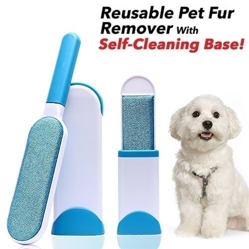 Double-Sided Pet Hair Pick up Brush Set of 2