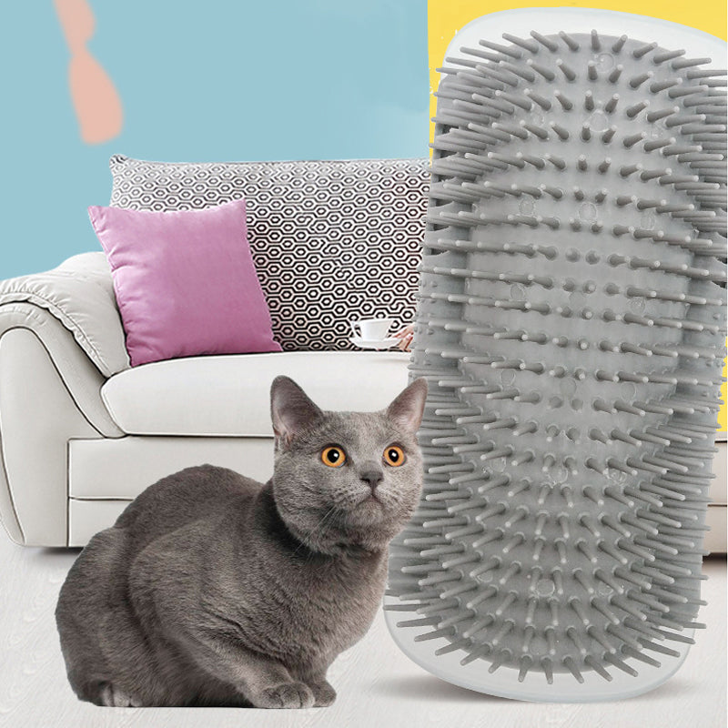 Happy Corner Self-Massage Brush For Cats GRAY - The Barking Dog Market